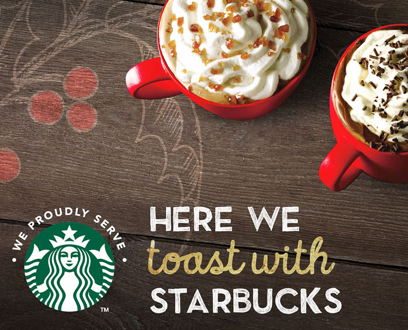 Unclaimed Baggage starbucks digital ad