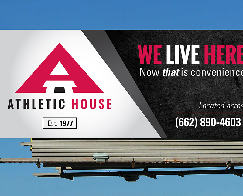 Athletic House Billboard